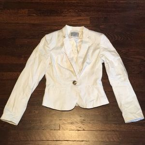 White single button blazer